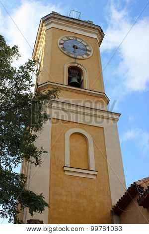 Church Tower In Eze, France