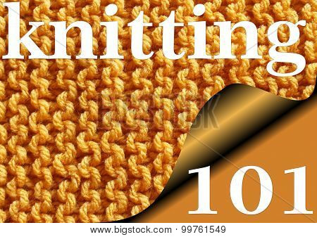 KNITTING 101 - Knitted garter stitch sampler for Beginners