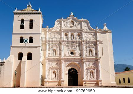 Honduras, View On The Colonial Cathedral Of Comayagua