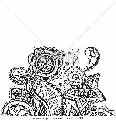 Mandala Doodle Design Element Vector Line Art
