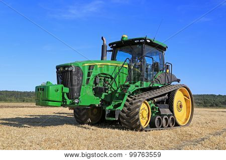 John Deere 8345RT Tracked Tractor On Field