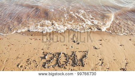 Calendar on sand. Year 2017