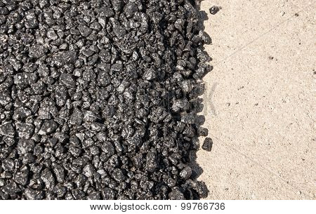 new asphalt road
