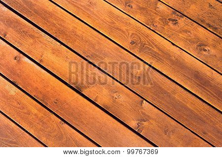 Background Of Wooden Planks Sloping