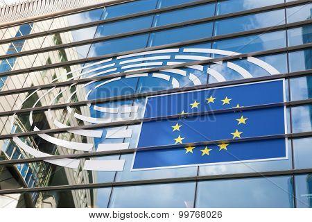 European Parliament Logo In Brussels
