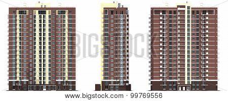 Rendering Of Modern Multi-storey Residential Building