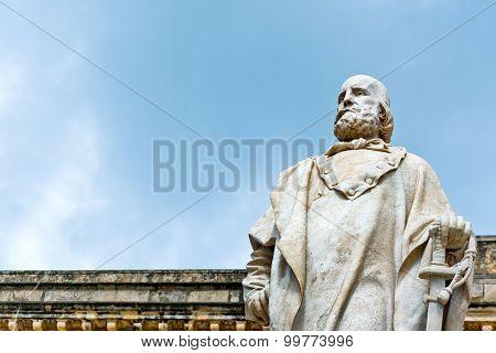 Garibaldi Statue In Trapani, Italy