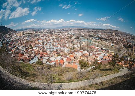 Panoramic view of old Tbilisi