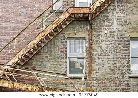 Old Fire Escape Staircase