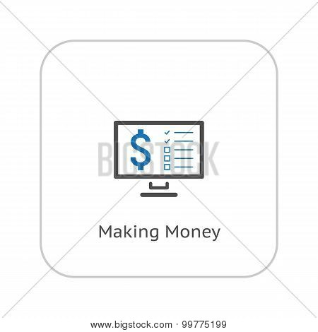 Making Money Icon. Business Concept. Flat Design.