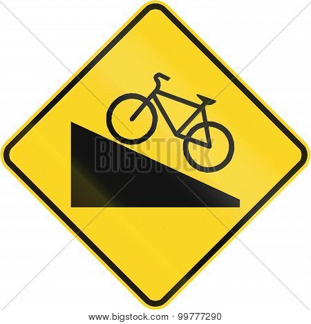 Steep Grade For Cyclists In Canada