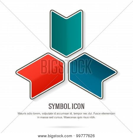 Company-logo-arrow-symbol-white-background-insulated