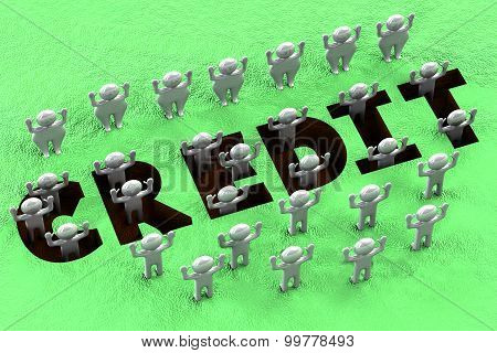 Financial Concept - Credit Pit