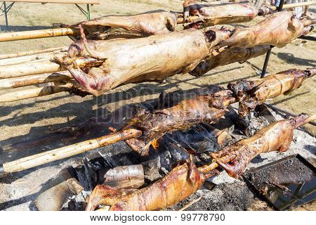 Bulgarian Barbecue Lamb Baking