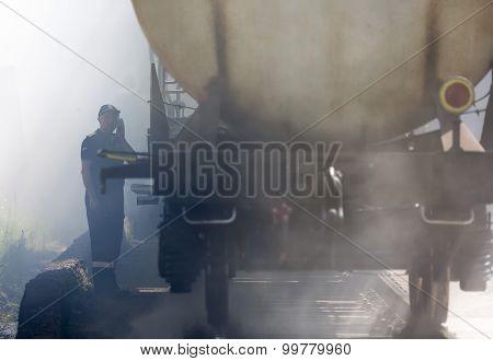Tanker Train Insmoke Firefighter