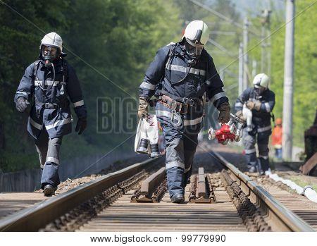 Tanker Train Crash Firefighters