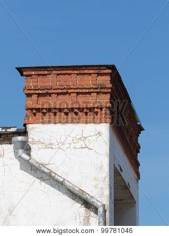 Brick Chimney And Gutter