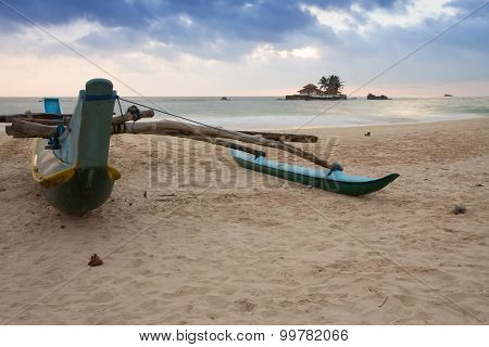 Boat on the beach.