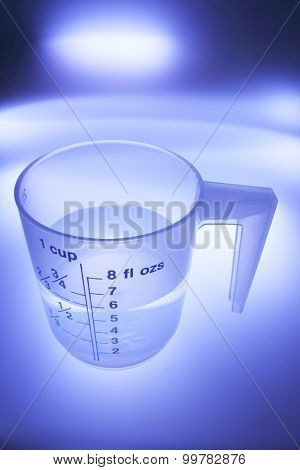 Water In Plastic Measuring Cup