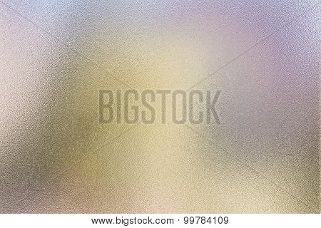 Abstract Colors Behind A Frosted Glass