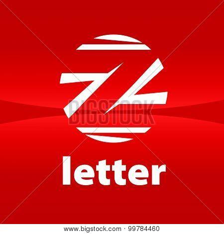 Round Vector Logo Creative Letter Z