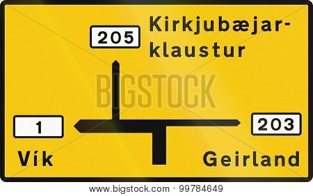 Destination Map Outside Capital Area In Iceland