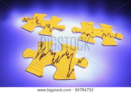 Graph Jigsaw Puzzle Pieces