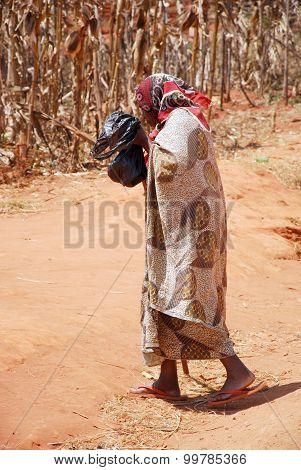 The Return At Home To Pomerini Village In Tanzania, Africa 700