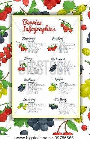 Berries Infographic Set