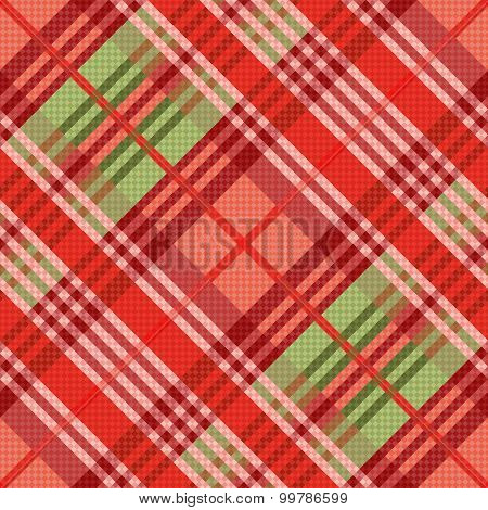 Diagonal Seamless Pattern Mainly In Red Hues