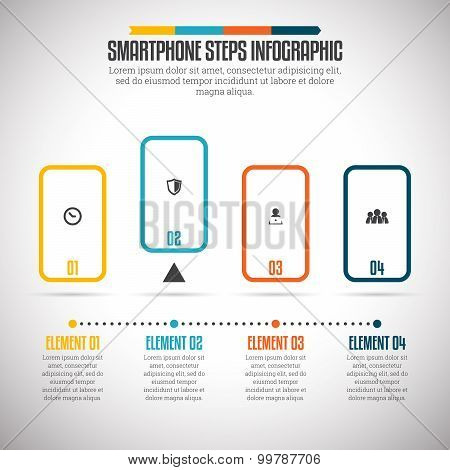 Smartphone Steps Infographic