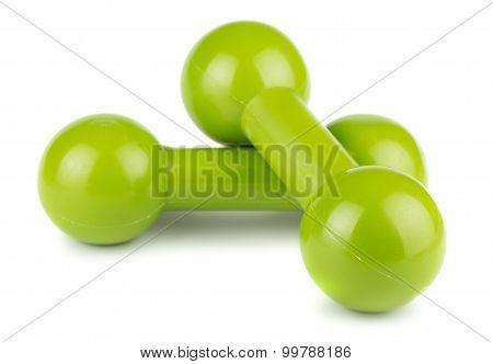Green Dumbbells For Fitness