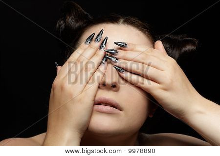 Girl Closing Her Eyes