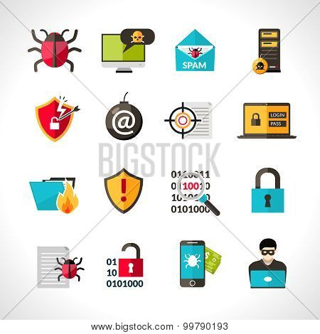 Cyber Virus Icons Set