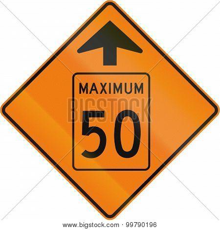Temporary Maximum Speed 50 Kmh Ahead In Canada