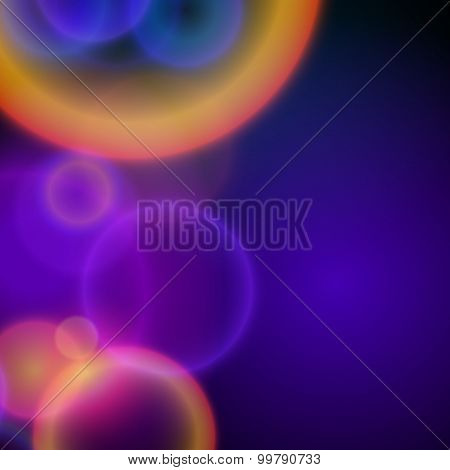 Blurred Glowing Background Circles Bubbles