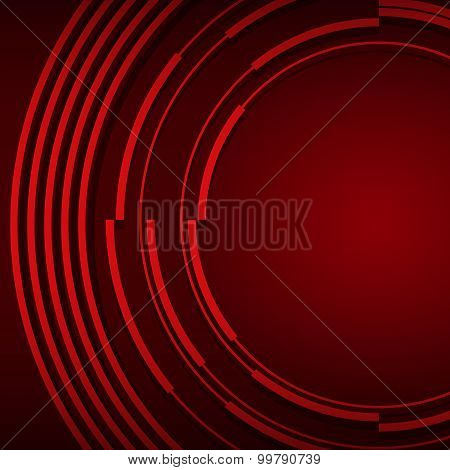 Business Presentation Cover Dark Red Background