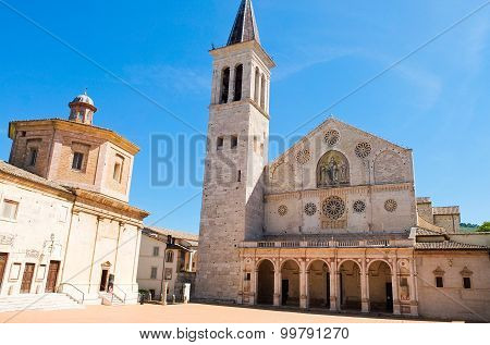View of the cathedral of Spoleto