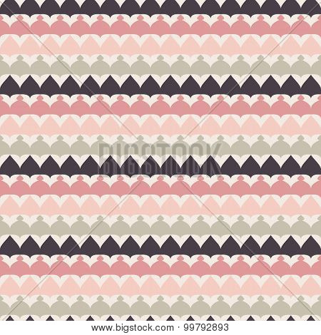 Cute retro abstract stripe seamless pattern.  illustration