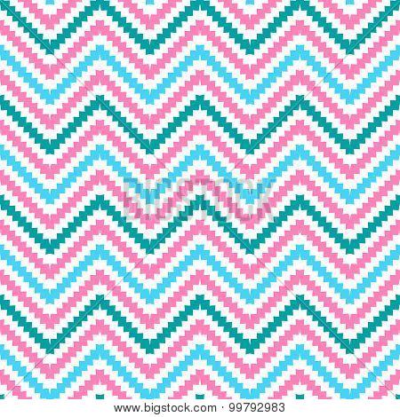 Cute tribal zig zag seamless pattern.  illustration