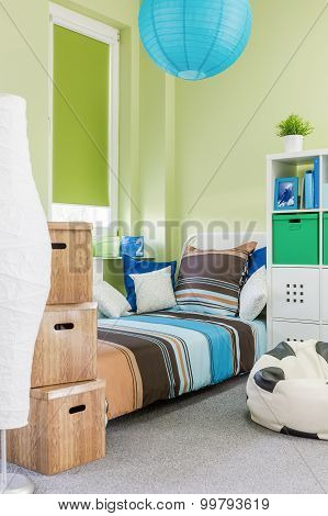 Sleeping Area With Single Bed