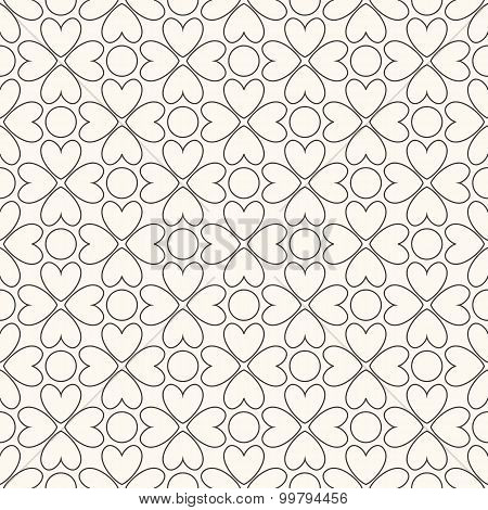 Floral  seamless pattern. Black and white colors
