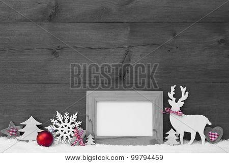 Black And White Christmas Decoration Snow Frame