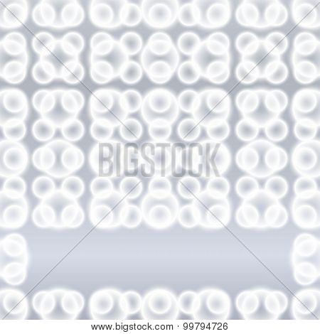 Gray Background Blur Circles Pattern Ornament