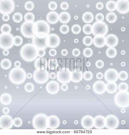 Gray Background Blur Circles Pattern