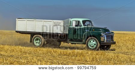 Panorama Of Vintage Farm Truck.