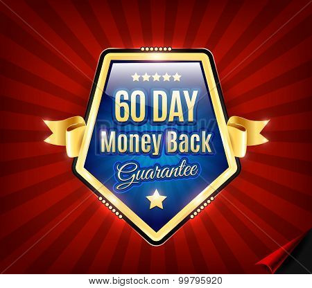 Sixty Day Money Back Guarantee Badge