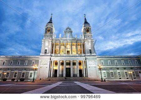 Santa Maria la Real de La Almudena Catholic cathedral in Madrid