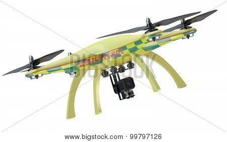 Ambulance Quadrocopter Closeup
