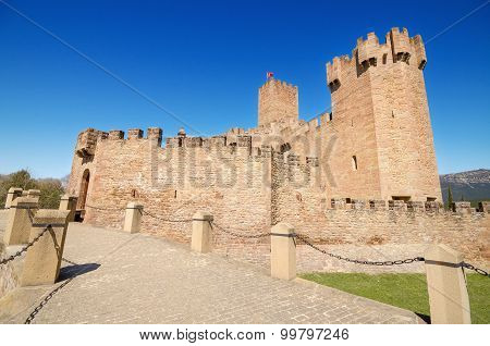 Scenic view of the famous Javier Castle in Navarra Spain.